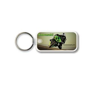Large Rectangle w/Rounded Corners Key Tag - Full Color